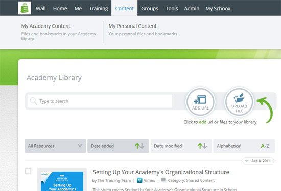 How can I add content into my personal Library? – Schoox